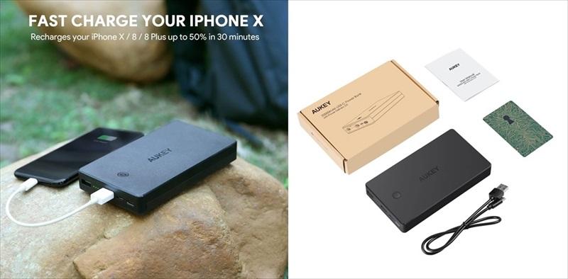 AUKEY USB-C PD対応の20000mAh モバイルバッテリー PB-Y20