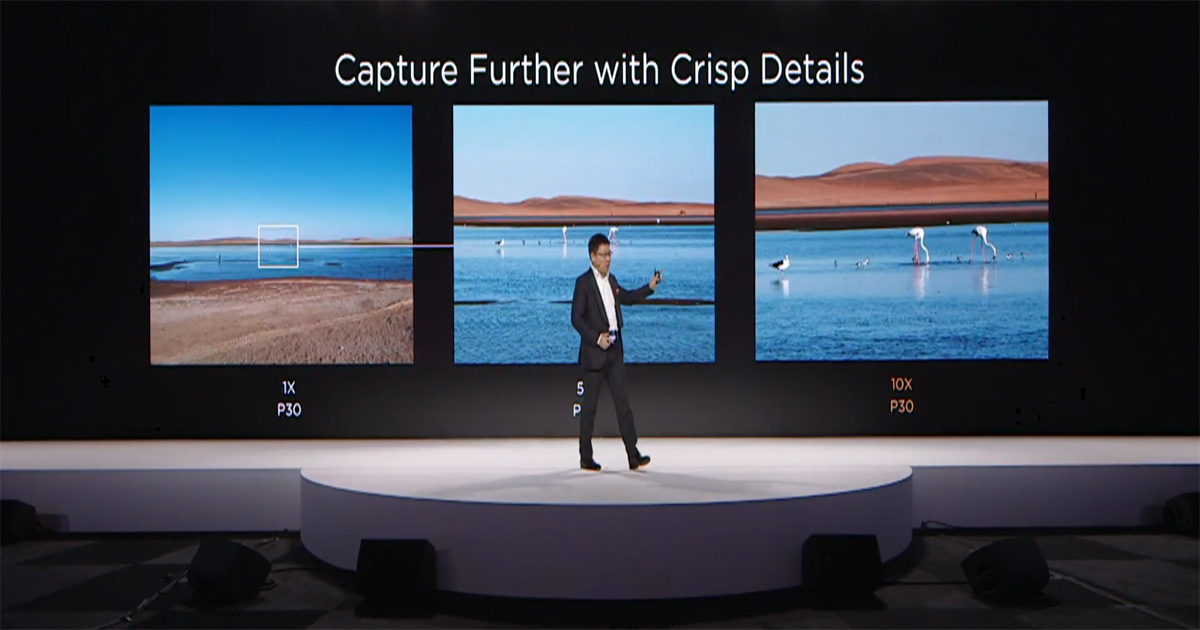 Huawei P30は光学3倍ズーム、デジタルズームでは10倍に対応