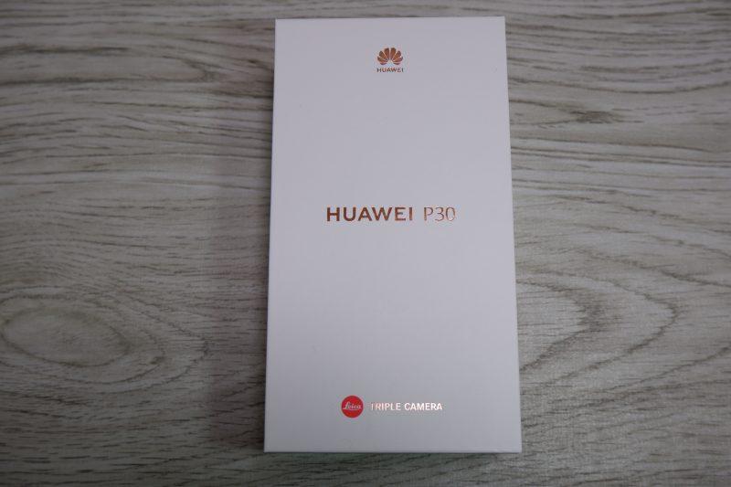 Huawei P30のパッケージはラグジュアリー感を感じる作り