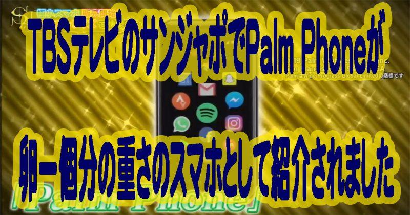 TBSテレビのサンジャポでPalm Phoneが卵一個分の重さのスマホとして紹介された