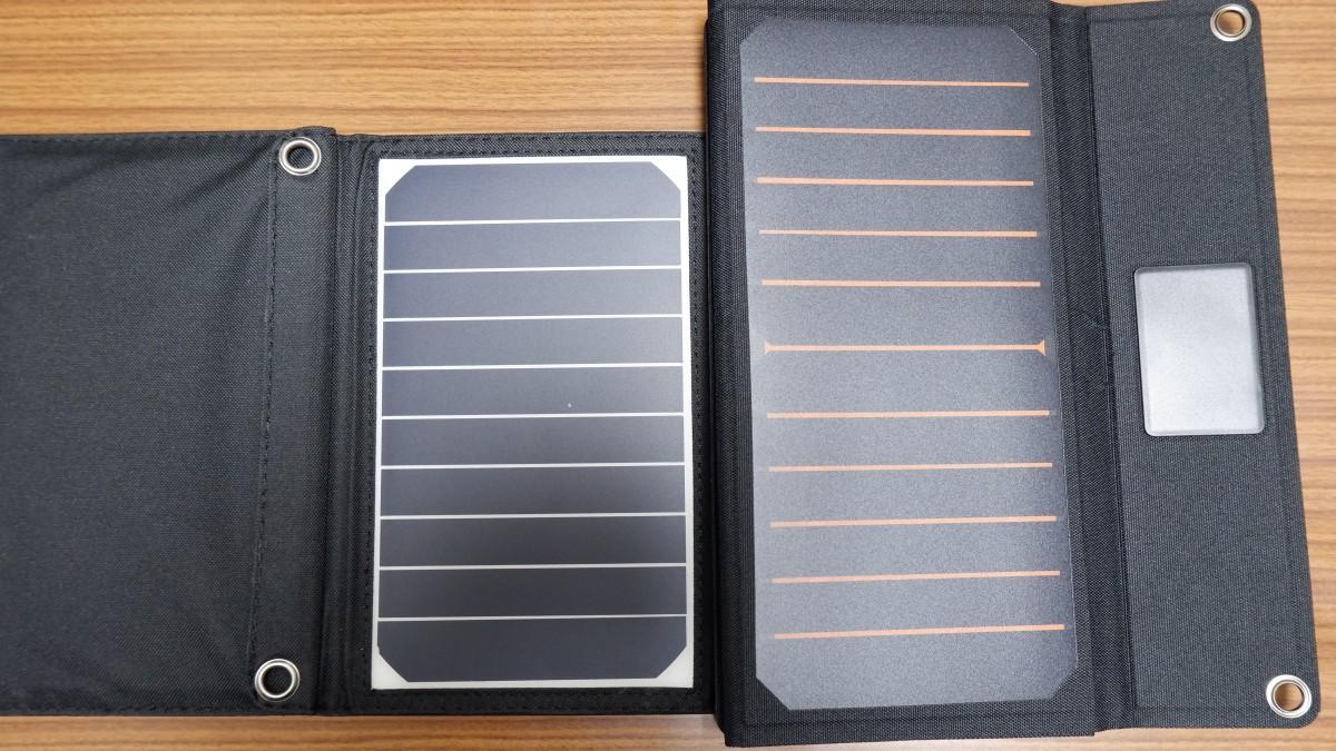 RP-PC008とRP-PC118を比較:ソーラーパネルがサイズアップし充電効率向上