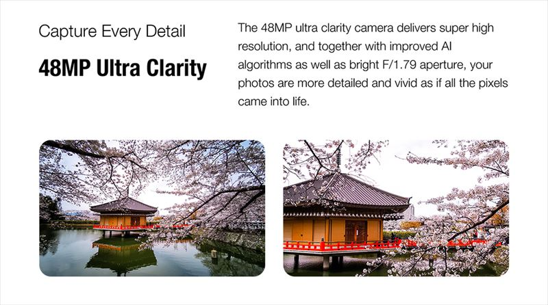 4800万画素という高画質にF値1.79の明るいレンズを搭載した標準カメラ