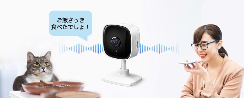 Tapo C100は双方向通話などスピーカーから声を出すことができる